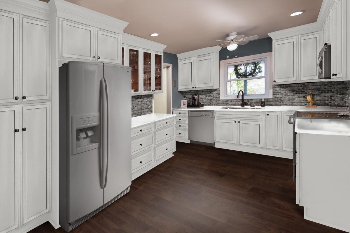 hallmark fabuwood pecan line cabinet value cabinets designeric
