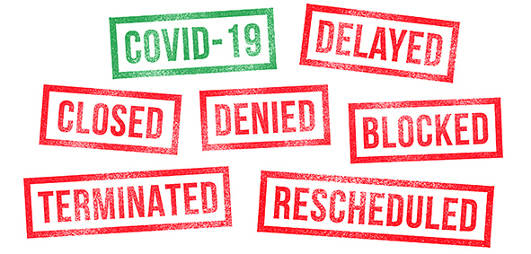 Cancelled due to COVID-19 reason events
